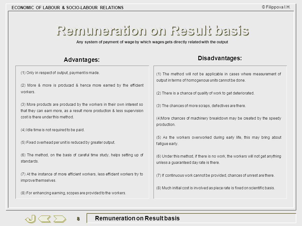 Remuneration on Result basis