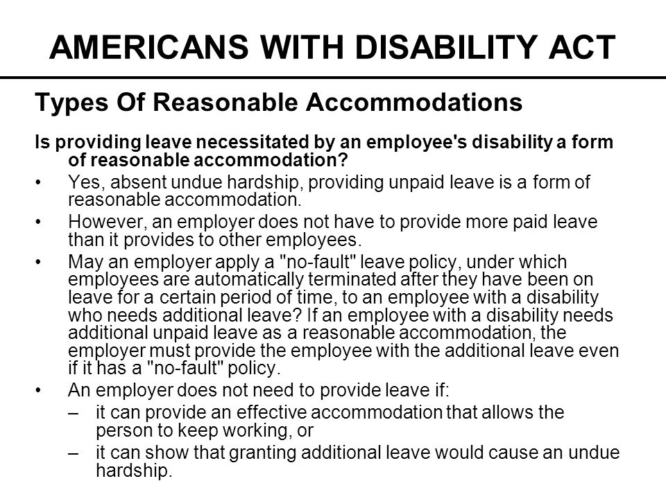 AMERICANS WITH DISABILITY ACT - ppt video online download