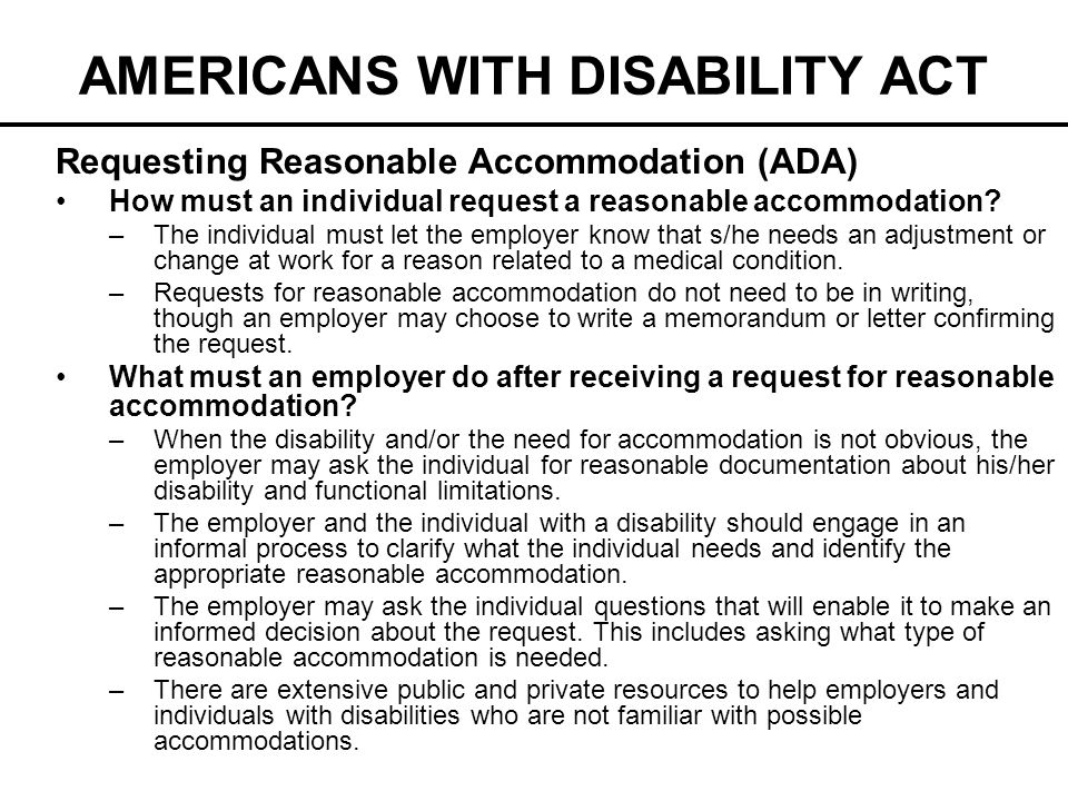 americans with disabilities act essay In conclusion, the americans with disabilities act of 1990, is meant to protect persons with disabilities from discrimination the need to create a law that protects persons with disabilities came about after the increase of cases of discrimination against them.