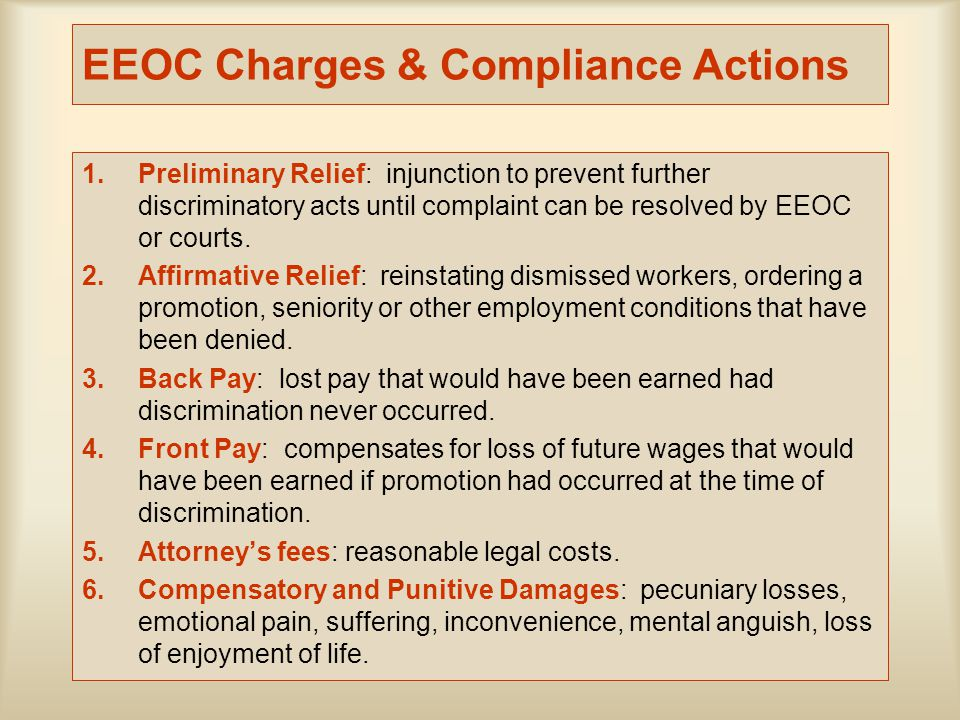 EEOC Charges & Compliance Actions
