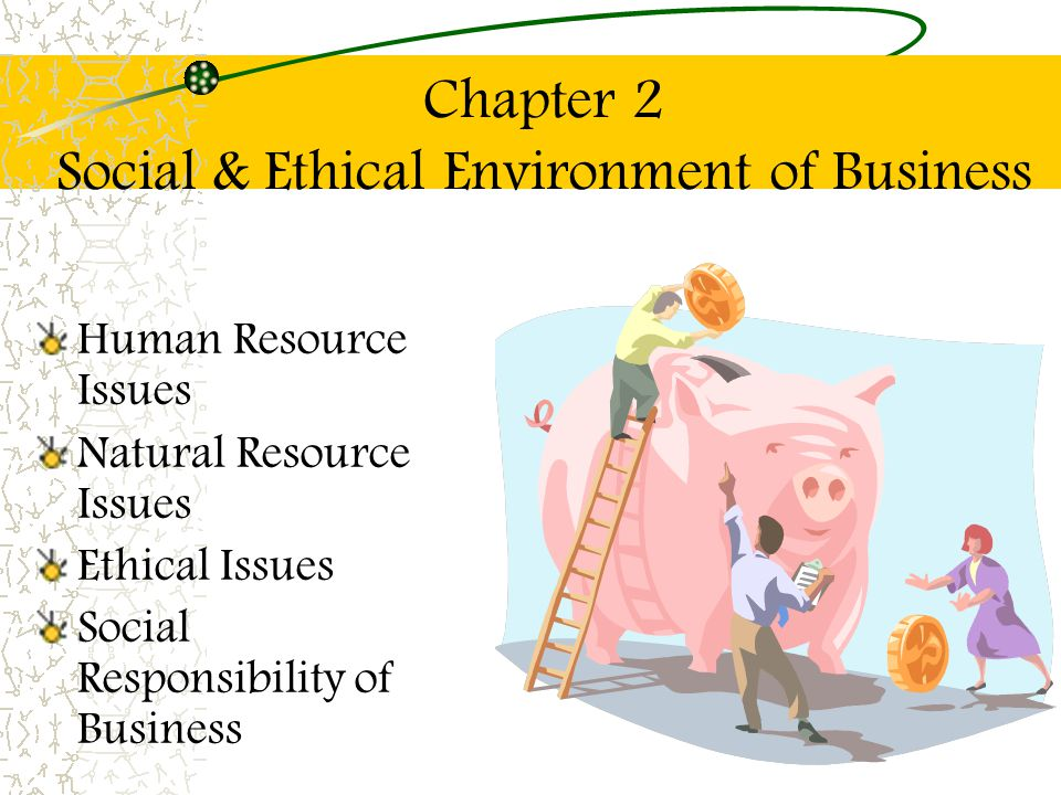 Chapter 2 Social & Ethical Environment of Business