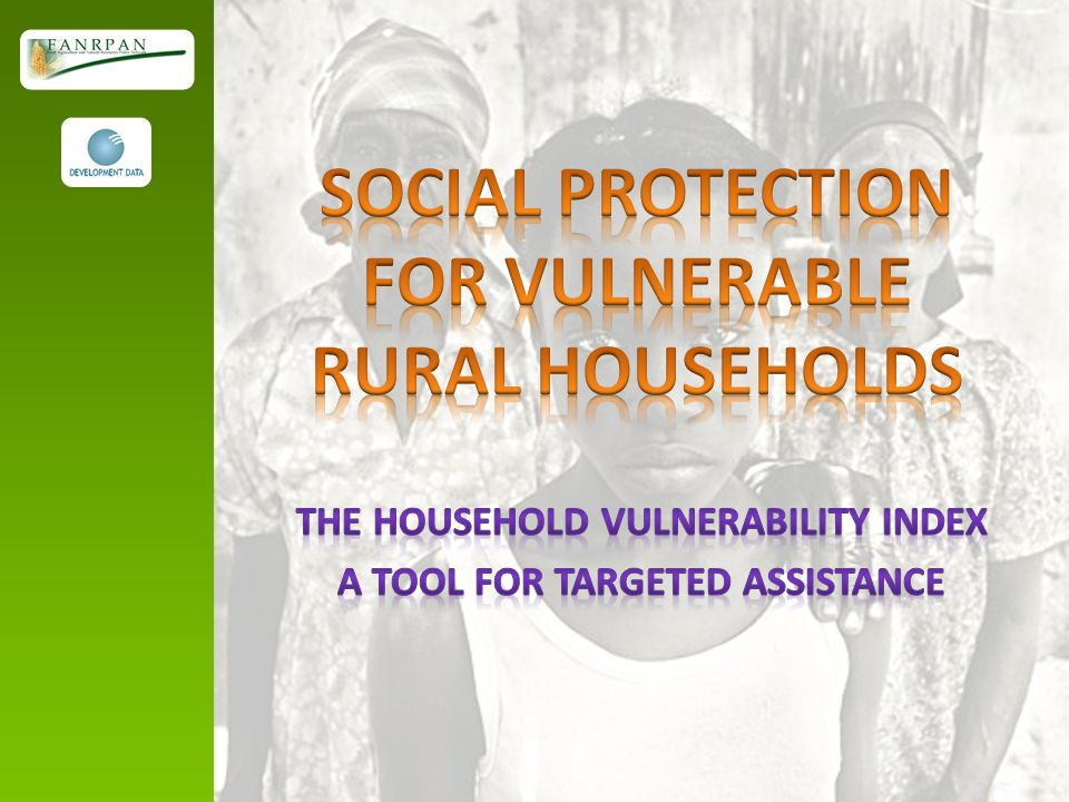 SOCIAL PROTECTION FOR VULNERABLE RURAL HOUSEHOLDS