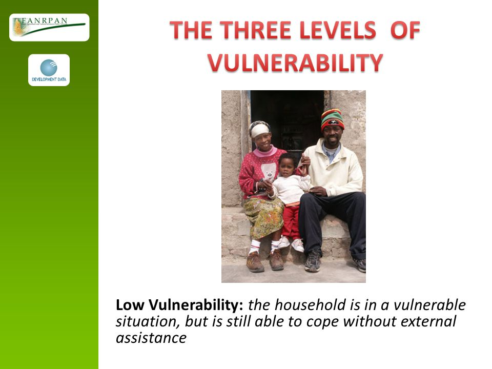THE THREE LEVELS OF VULNERABILITY