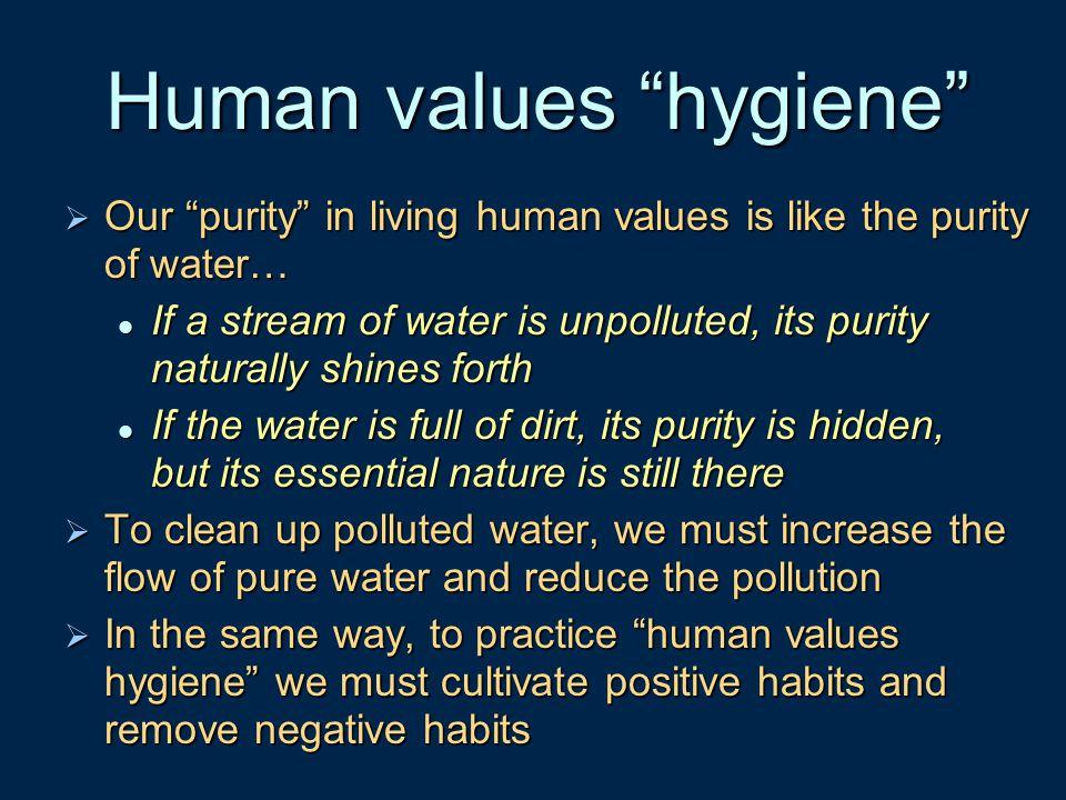 Human values hygiene