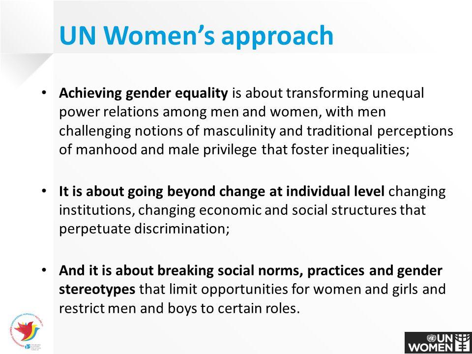 UN Women's approach