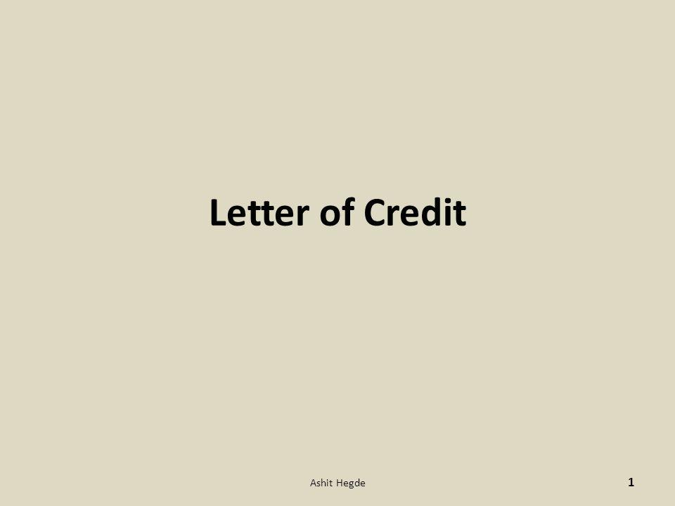 Letter of Credit Ashit Hegde