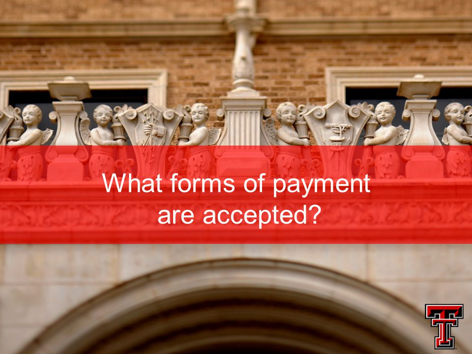 What forms of payment are accepted