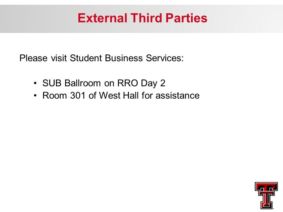 External Third Parties