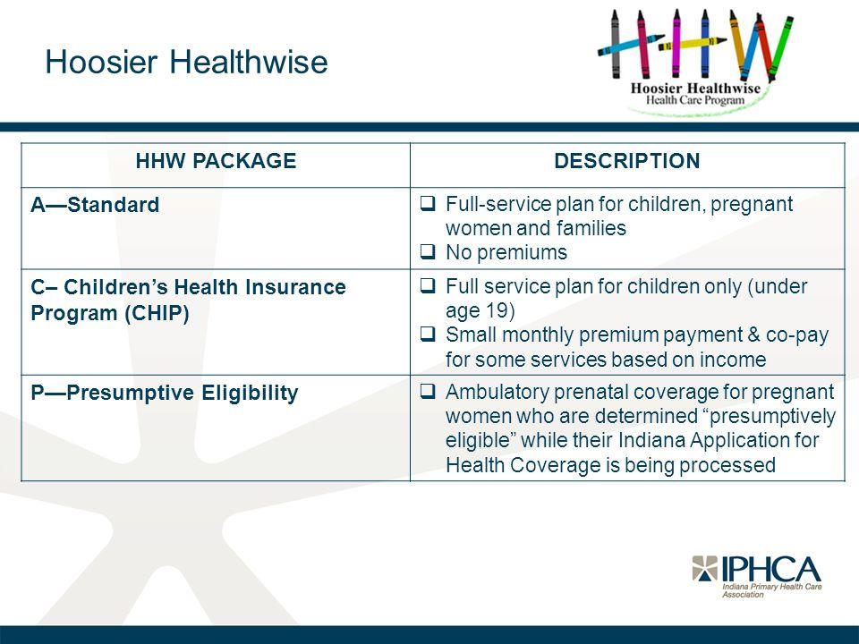 Hoosier Healthwise HHW PACKAGE DESCRIPTION A—Standard