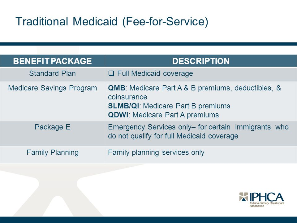 Traditional Medicaid (Fee-for-Service)