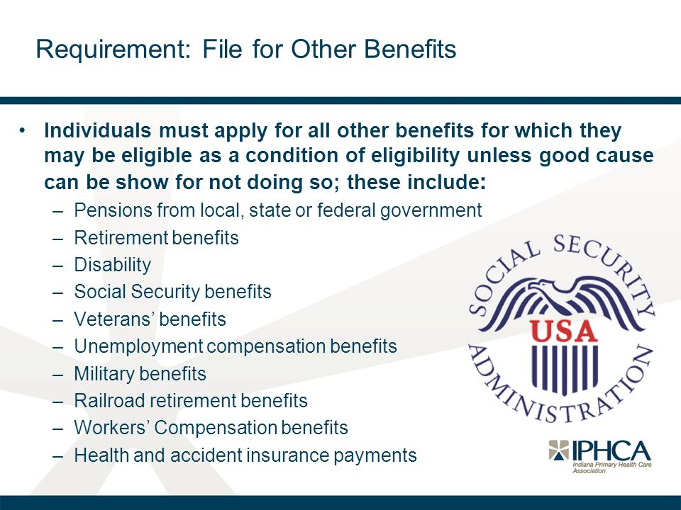 Requirement: File for Other Benefits