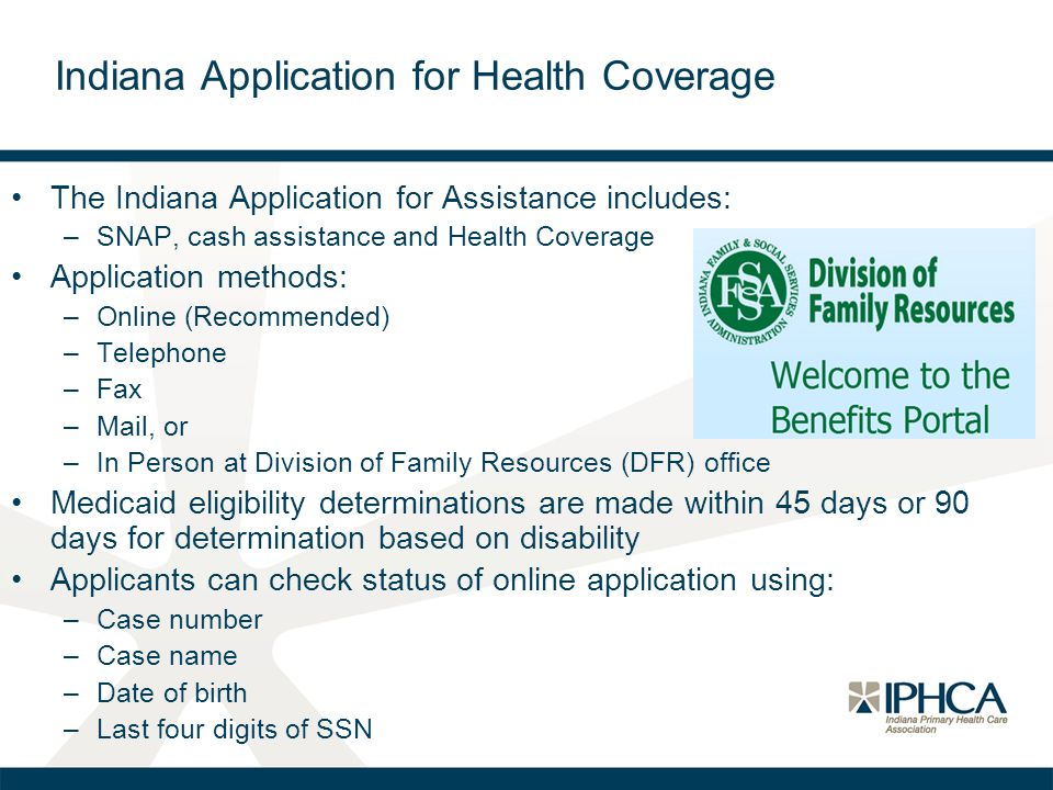 Indiana Application for Health Coverage