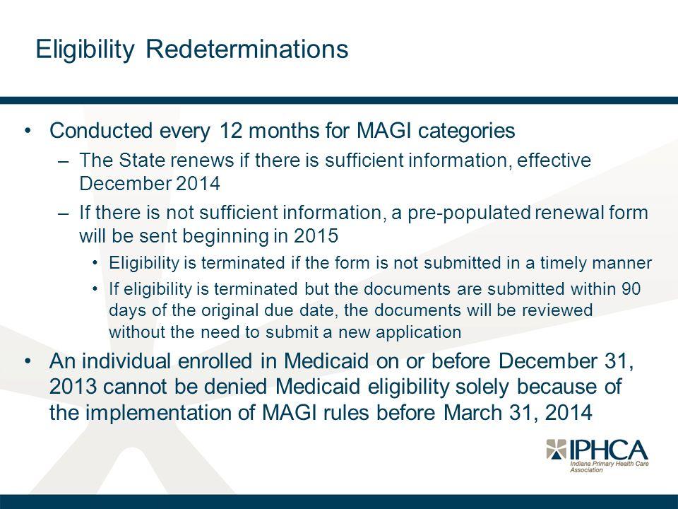 Eligibility Redeterminations