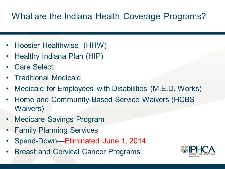 What are the Indiana Health Coverage Programs