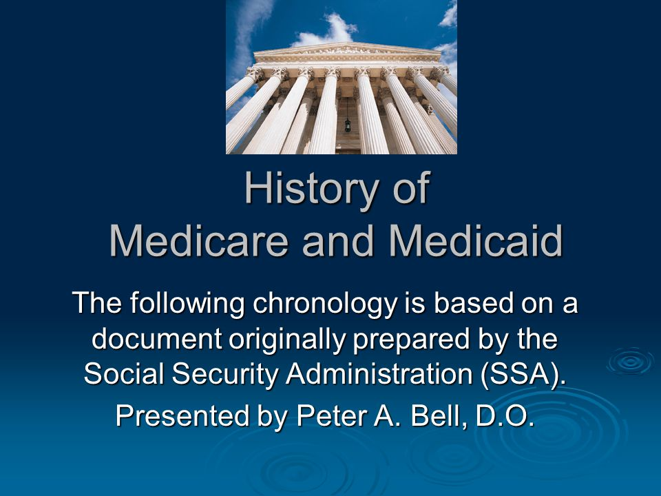 History of Medicare and Medicaid