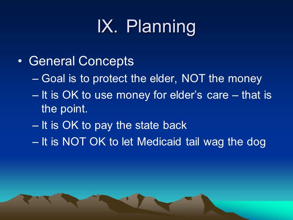 IX. Planning General Concepts