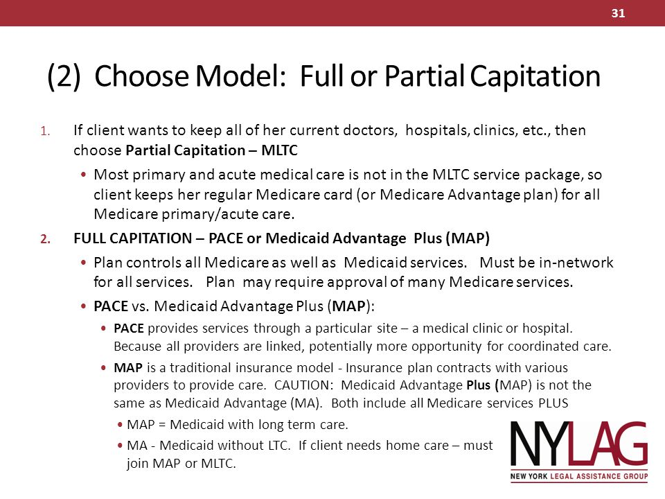 (2) Choose Model: Full or Partial Capitation