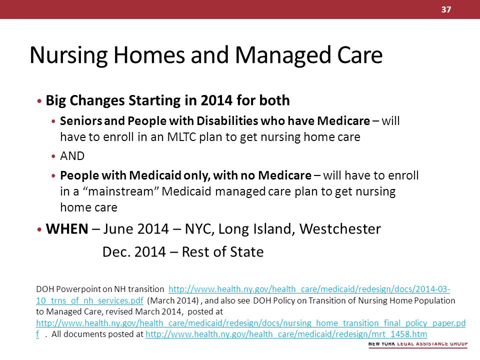 Nursing Homes and Managed Care