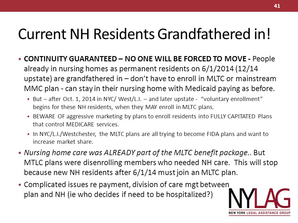 Current NH Residents Grandfathered in!