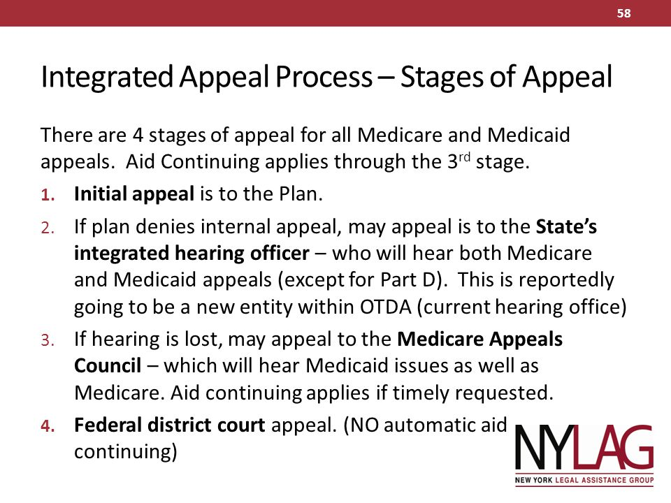 Integrated Appeal Process – Stages of Appeal