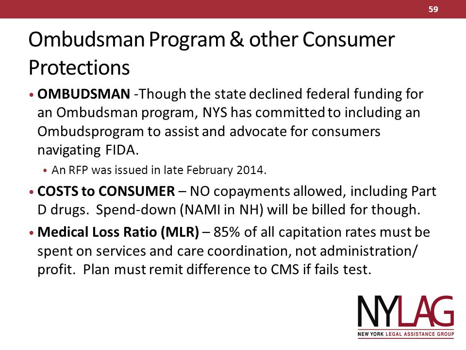Ombudsman Program & other Consumer Protections