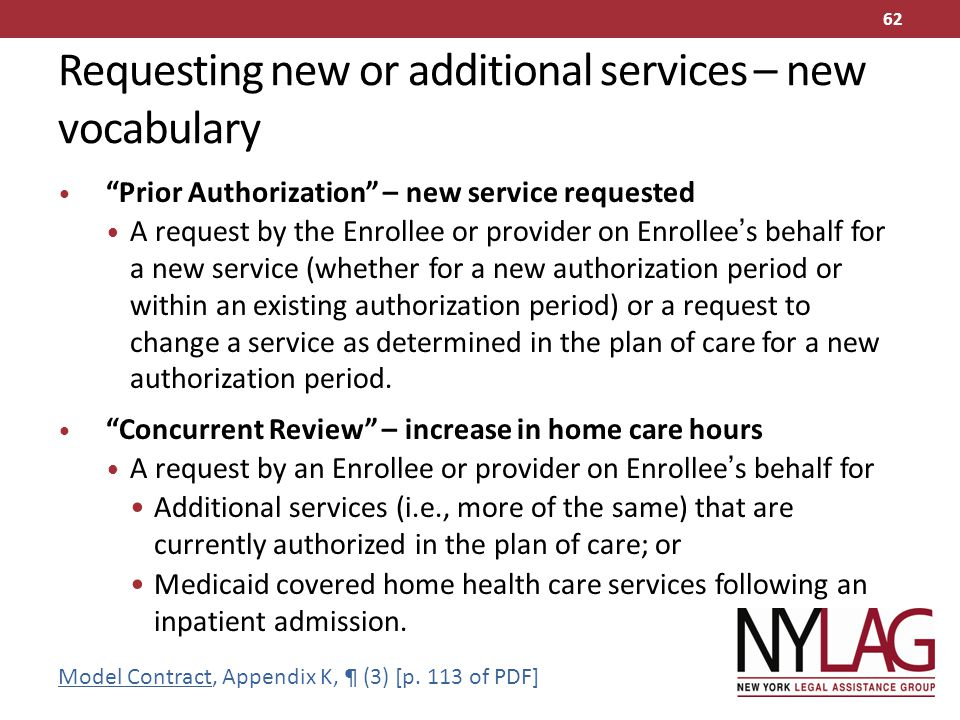 Requesting new or additional services – new vocabulary