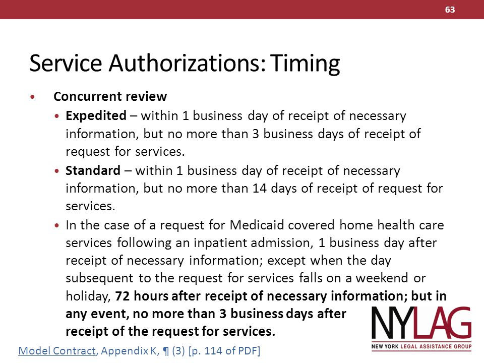 Service Authorizations: Timing