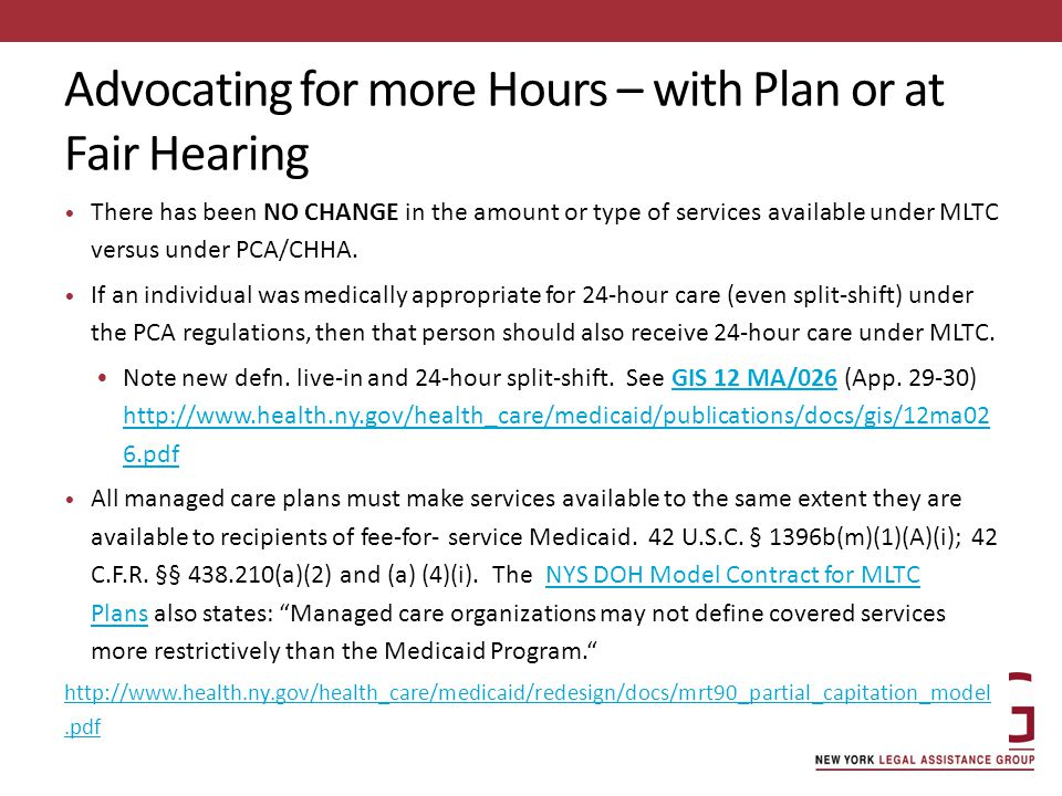 Advocating for more Hours – with Plan or at Fair Hearing