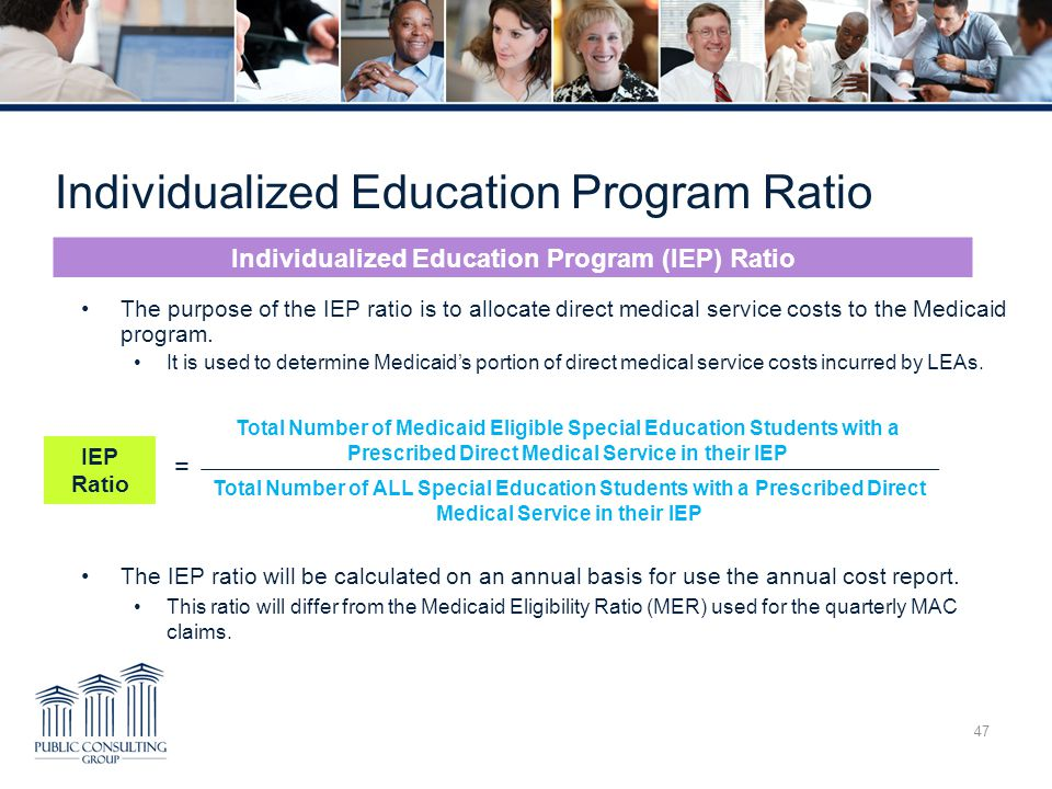 Individualized Education Program Ratio