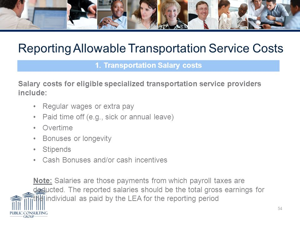 1. Transportation Salary costs