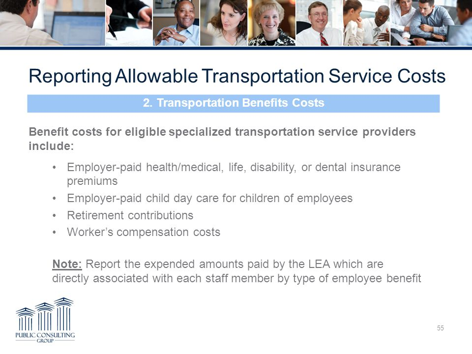 2. Transportation Benefits Costs