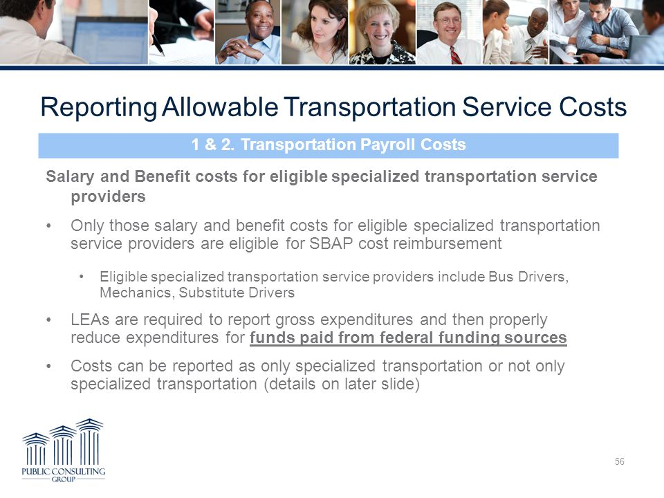 1 & 2. Transportation Payroll Costs