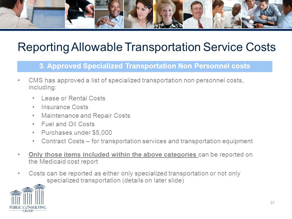 3. Approved Specialized Transportation Non Personnel costs