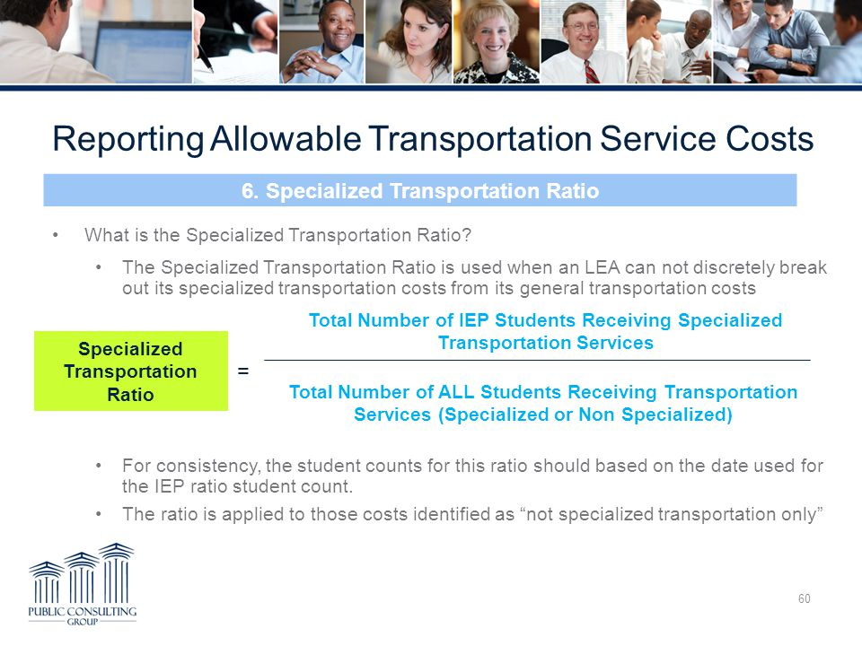 6. Specialized Transportation Ratio