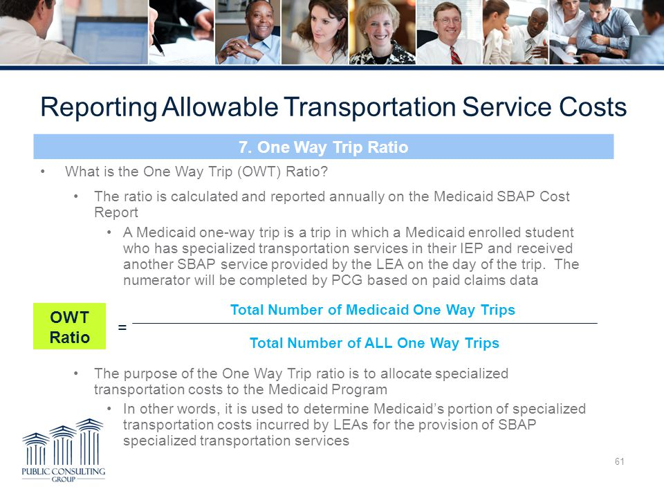 Reporting Allowable Transportation Service Costs