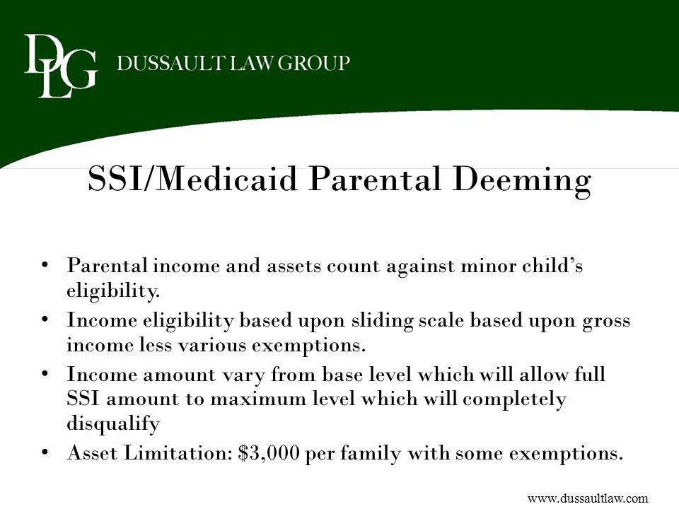 SSI/Medicaid Parental Deeming