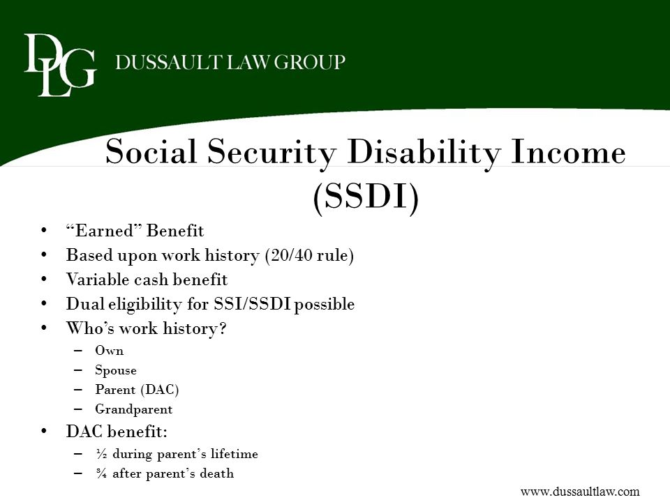 Social Security Disability Income (SSDI)