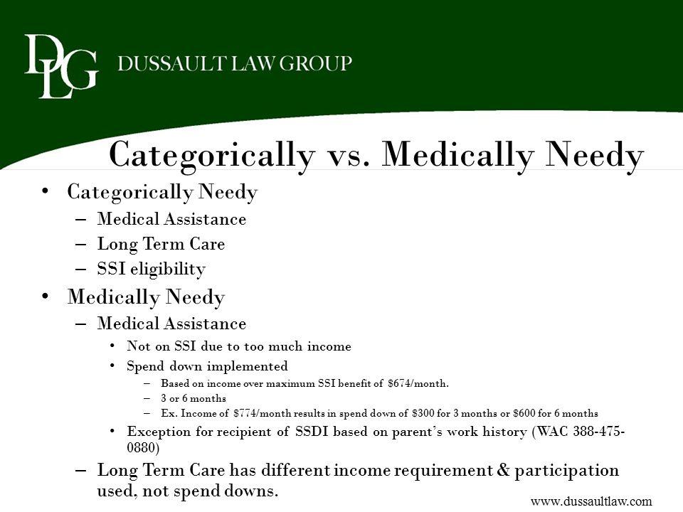 Categorically vs. Medically Needy