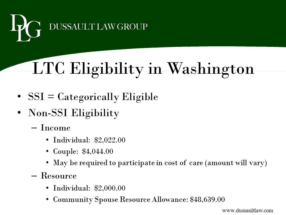 LTC Eligibility in Washington