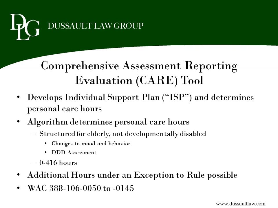 Comprehensive Assessment Reporting Evaluation (CARE) Tool