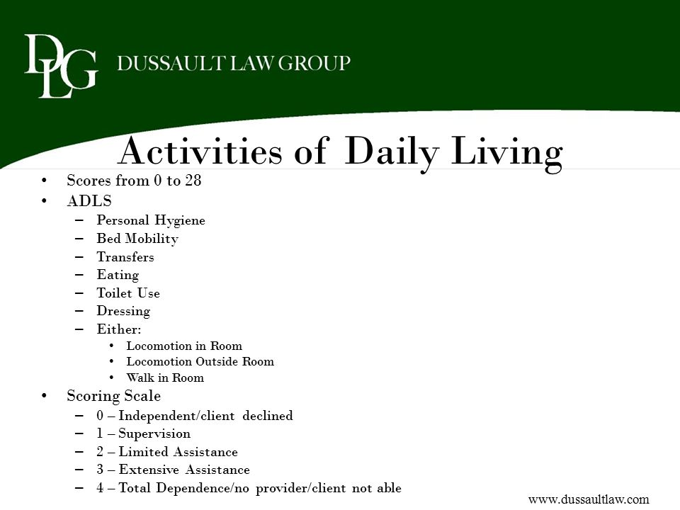 Activities of Daily Living