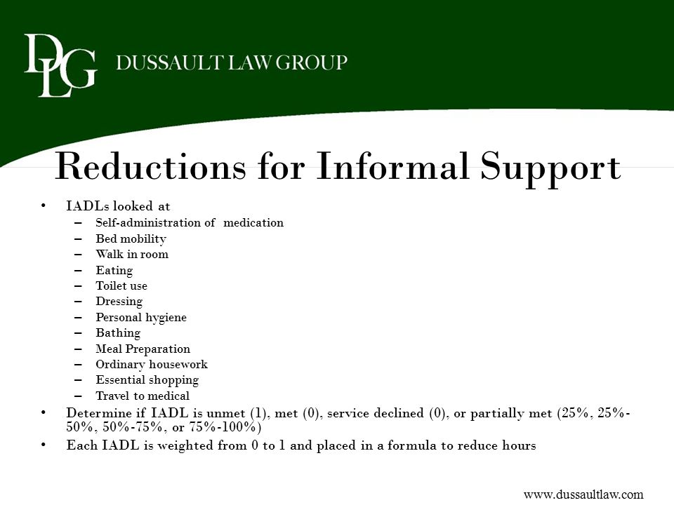Reductions for Informal Support