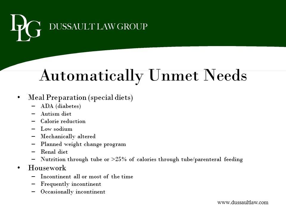 Automatically Unmet Needs