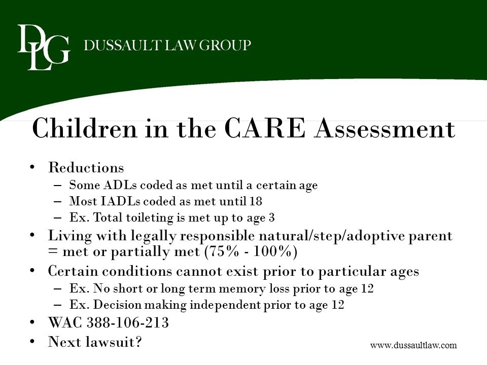 Children in the CARE Assessment