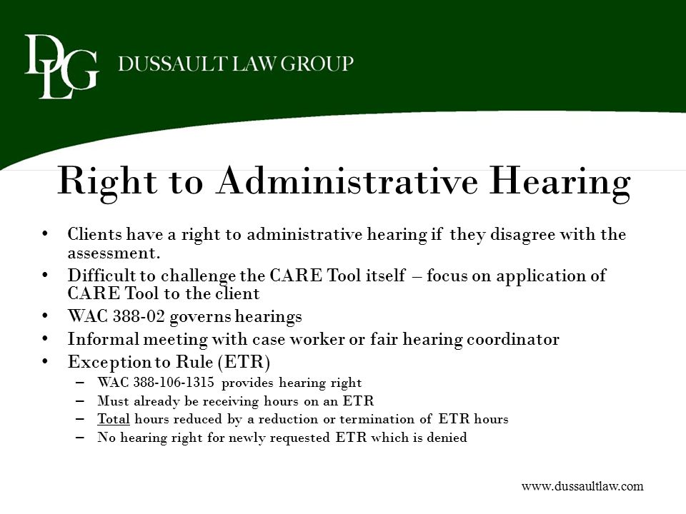Right to Administrative Hearing