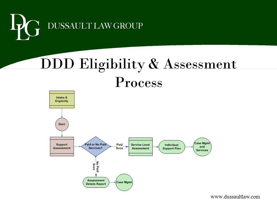 DDD Eligibility & Assessment Process