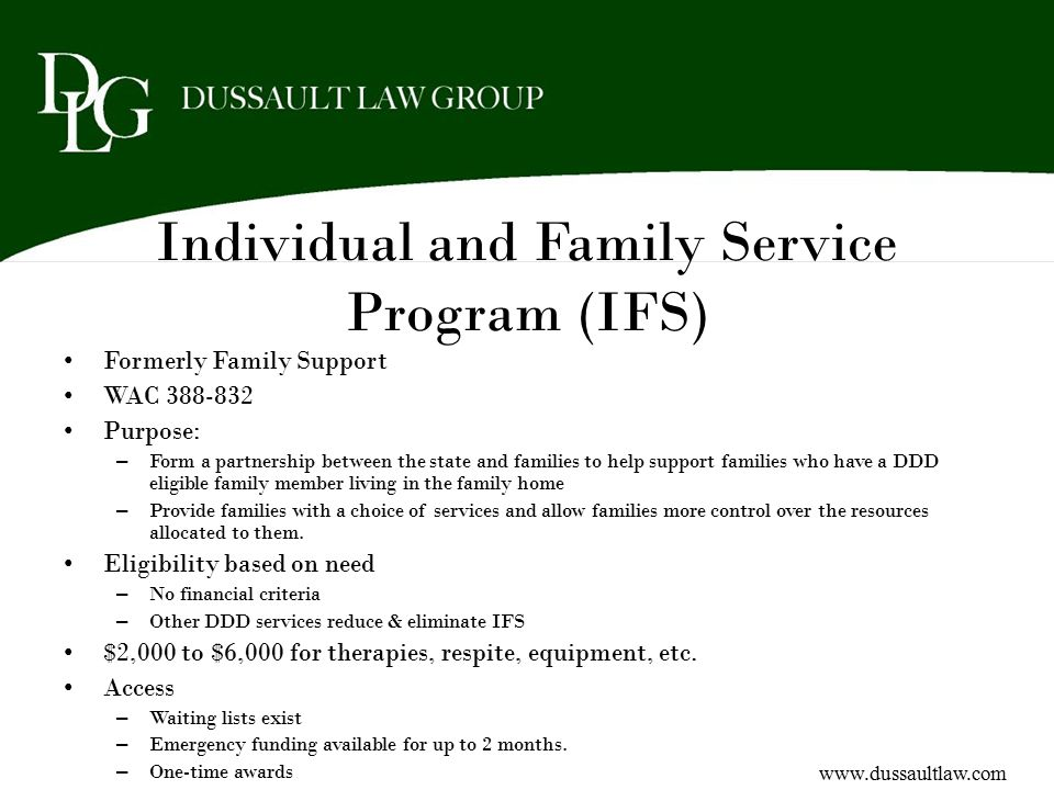 Individual and Family Service Program (IFS)