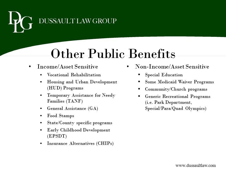 Other Public Benefits Income/Asset Sensitive