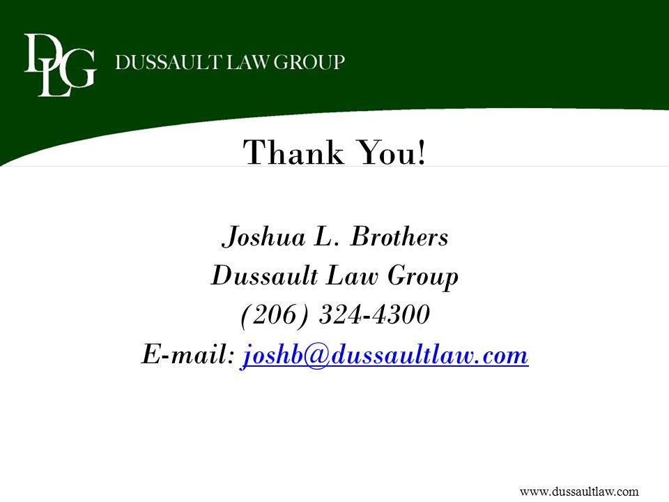 Thank You. Joshua L.