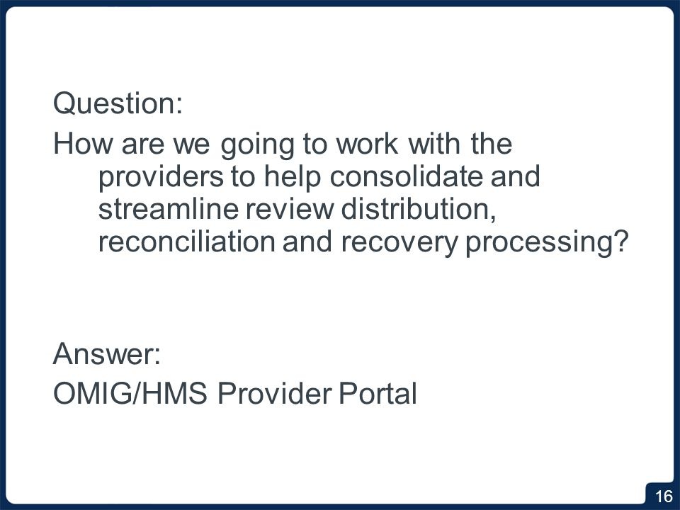 Overview of the Provider Portal